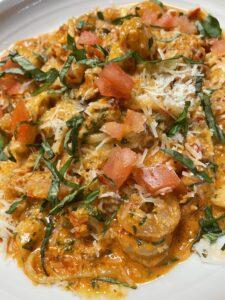 Spicy Vodka Seafood Pasta